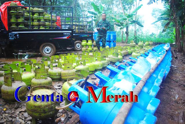 Diduga Dibacking Oknum TNI, Korem 061 Grebek Pengoplosan Gas