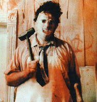 leatherface from The Texas Chainsaw Massacre (1974) with hammer
