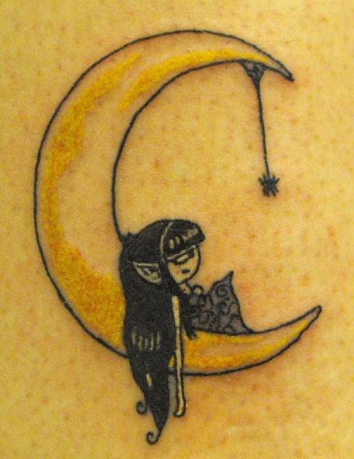 Tattoos Designs Moon Tattoo Designs