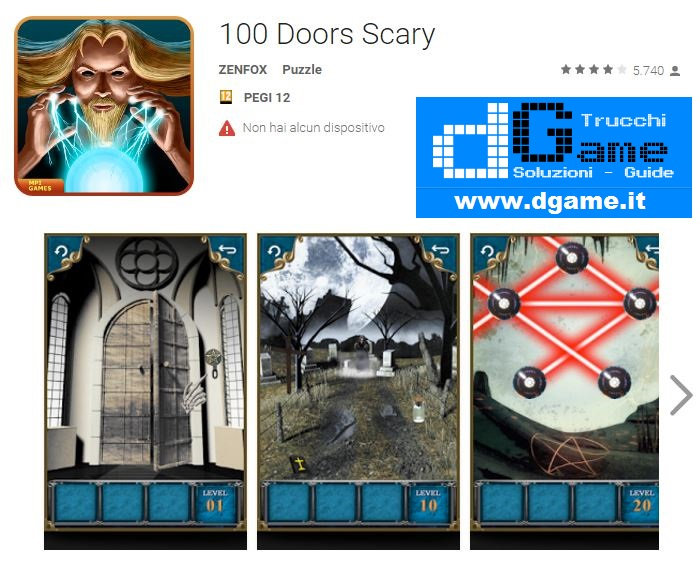 Soluzioni 100 Doors Scary di tutti i livelli | Walkthrough guide