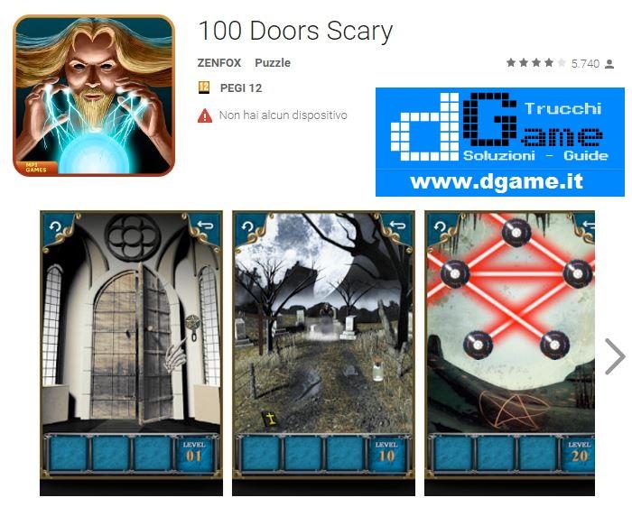 Soluzioni 100 doors scary livello 26 27 28 29 30 31 32 33 for 100 doors door 32
