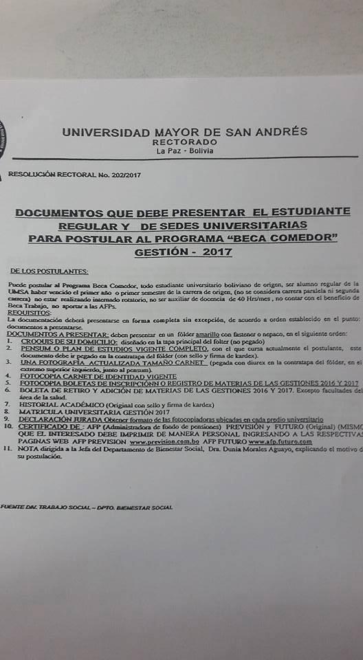 Convocatoria beca comedor 2017 universidad mayor de san for Becas comedor 2017 madrid