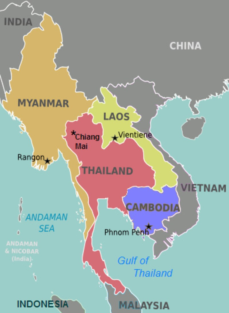 Anthropology Of Accord Map On Monday Southeast Asia