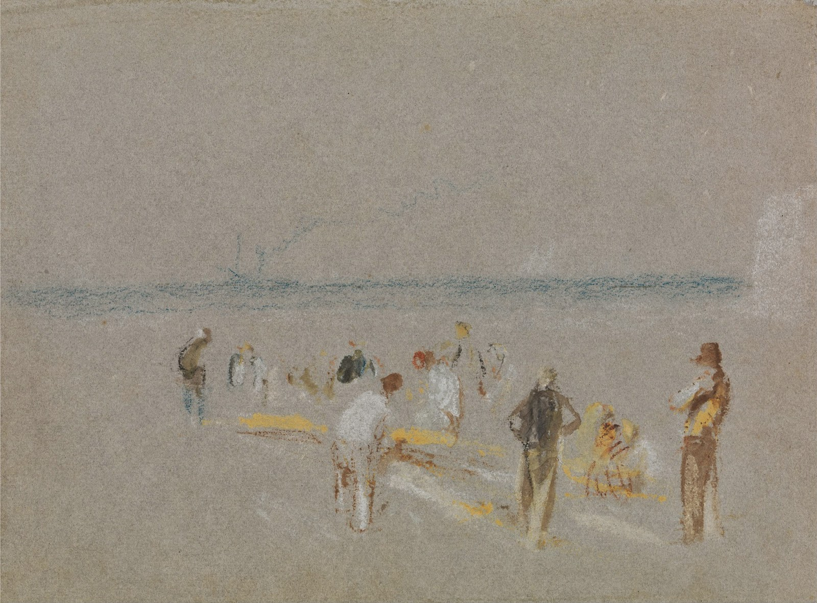 Cricket on the Goodwin Sands by J.M.W Turner c. 1828-30