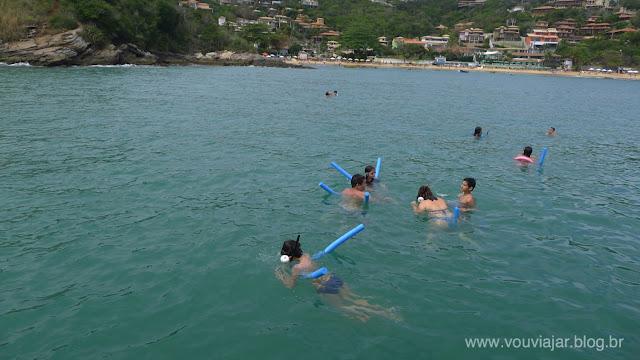 Mergulho na praia de João Fernandes, em Búzios