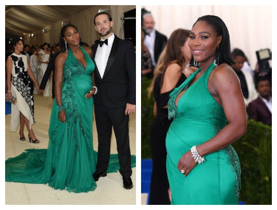 Serena Williams All Smiles With Her Growing Baby Bump As She Steps Out With Fiance To MetGala 2017