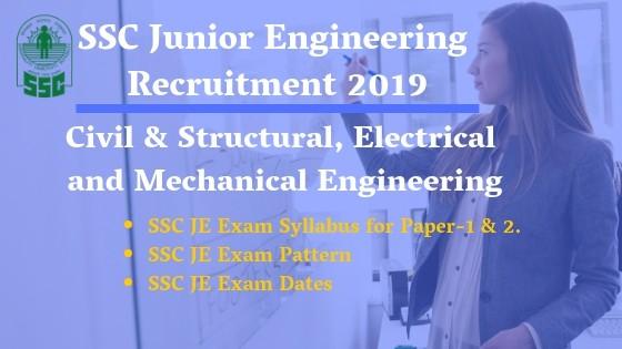 SSC Jr Engineer exam syllabus