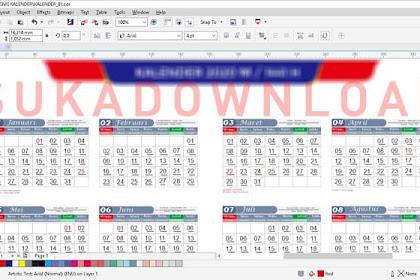 Download Kalender 2020 Desain Simple Cocok untuk Promosi