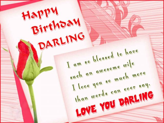 Awesome Birthday Wishes for Wife with Images
