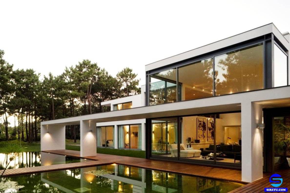 70 Desain Rumah Modern Full Kaca Terbaru Dan Terkeren