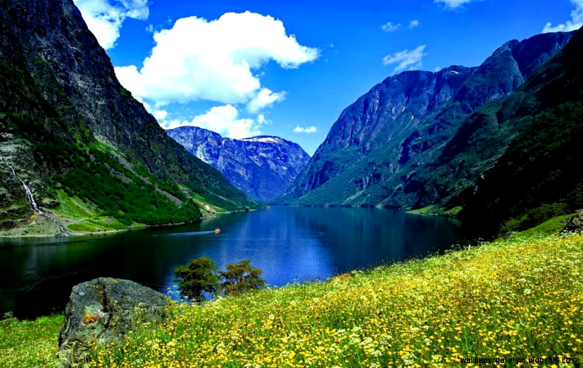 Nature Norway Fjord Mountain Hd Wallpaper Wallpaper Gallery