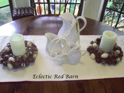 Eclectic Red Barn: White ironstone pitchers for Easter