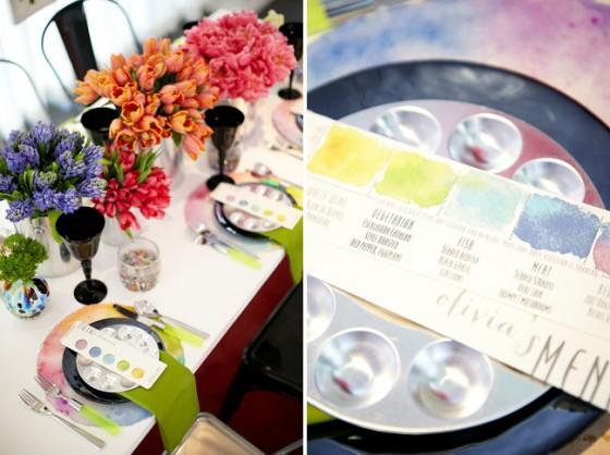 Tables En Fte Dcoration Mariage Thme Peinture