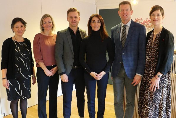 Princess Marie wore Zara knit turtleneck sweater. Black light turtleneck sweater with cute button detail.