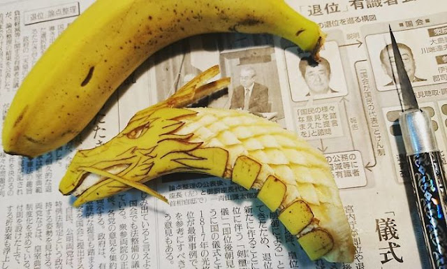 amazing food carving by Gaku