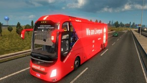 Liverpool FC Skin for Volvo 9800 Bus