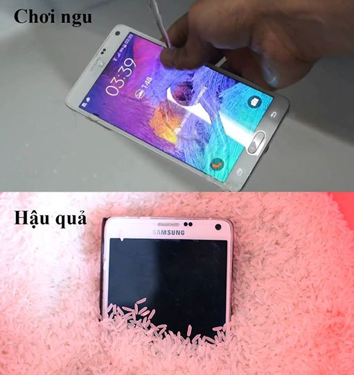Smartphone và nước