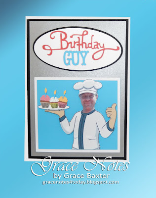 birthday guy chef's b-day card, by Grace Baxter