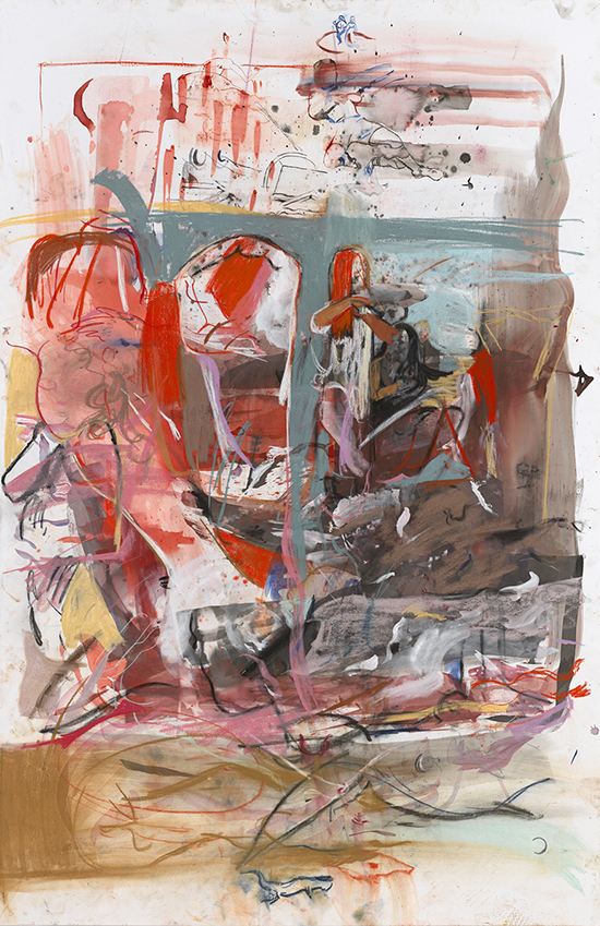 Cecily Brown, contemporary drawing, Combing the hair, Drawing Center