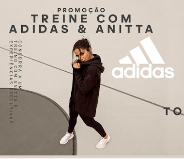 Ganhe R$ 6.000,00 em produtos Adidas, treine com a Anitta e ainda ganhe um ingresso para o show da cantora