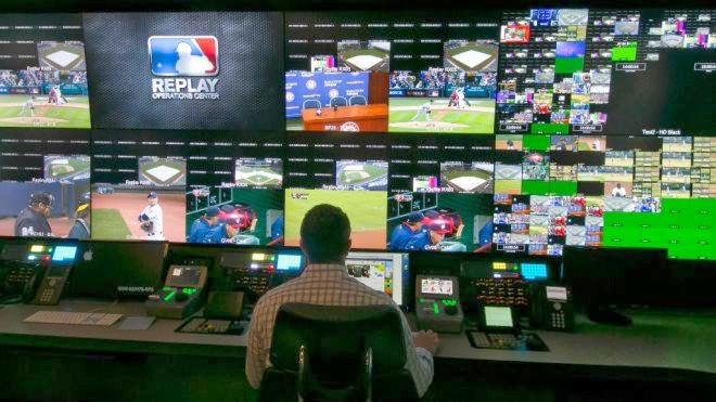 "The Replay Operations Center or ""ROC"" is baseball's technology  headquarters, put together by MLB Advanced Media (MLBAM) in their Chelsea  Market building."