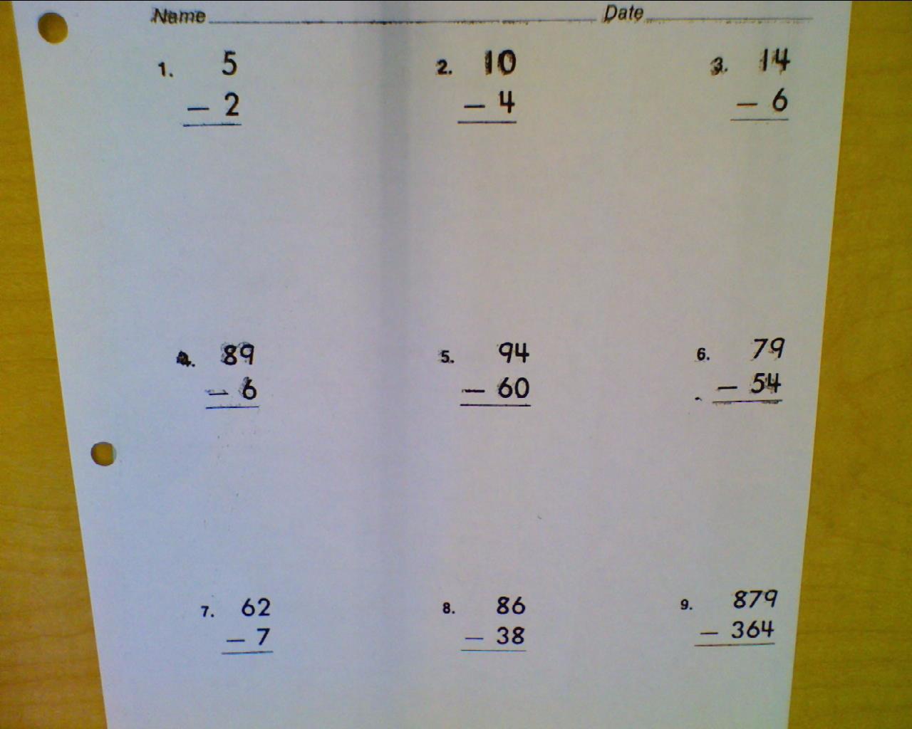 Wishful Teaching Subtraction
