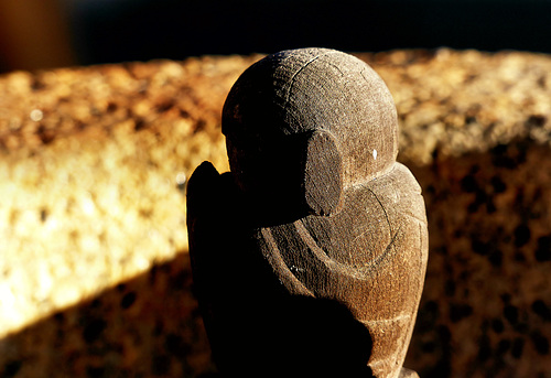A small wooden Jizo at Kankiji Temple.