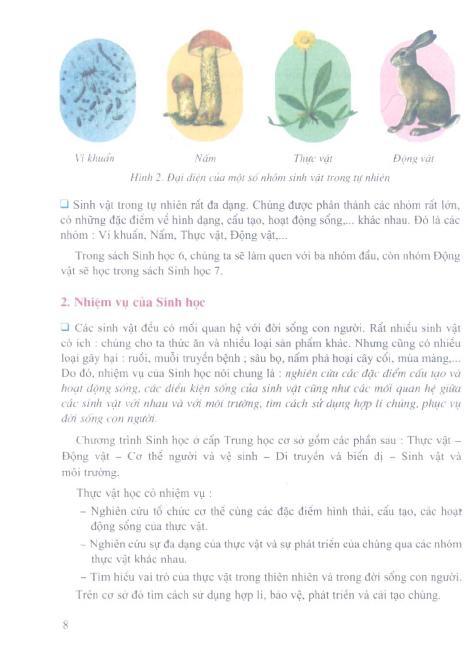 Trang 9 sach Sách Giáo Khoa Sinh Học Lớp 6