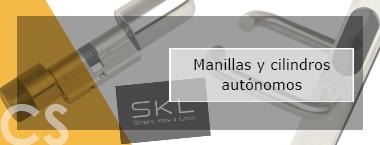 CS control de accesos manillas y cilindros autónomos sin cables