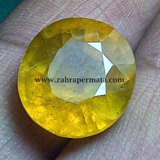 Batu Permata Yellow Sapphire
