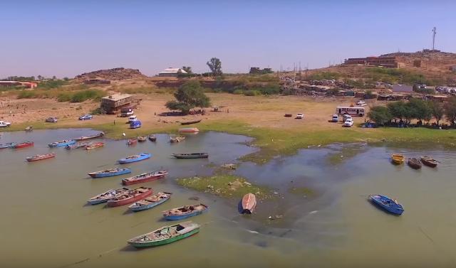 صور  السودان - خزان جبل اوليا - منظر قوارب الصيادين