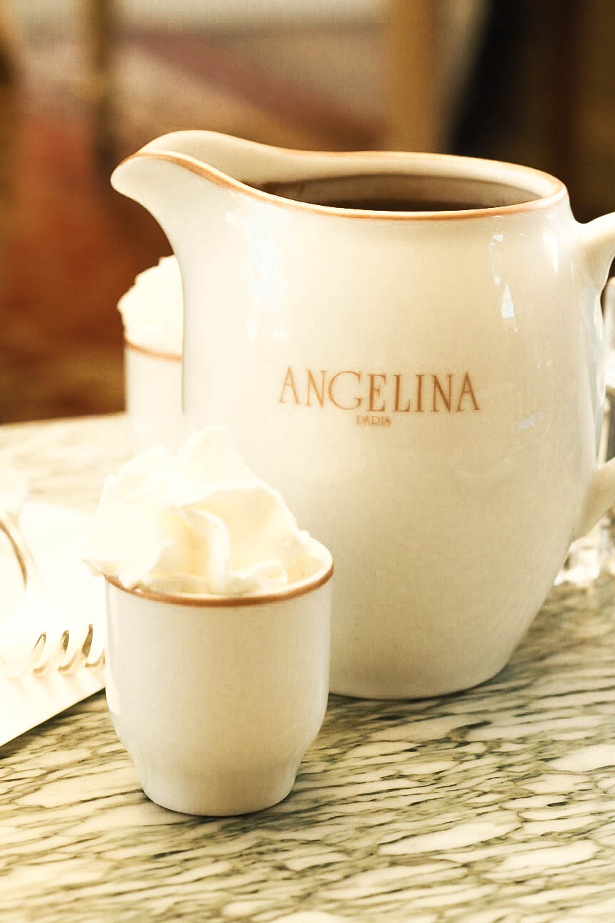 Hot chocolate at Angelina, Paris