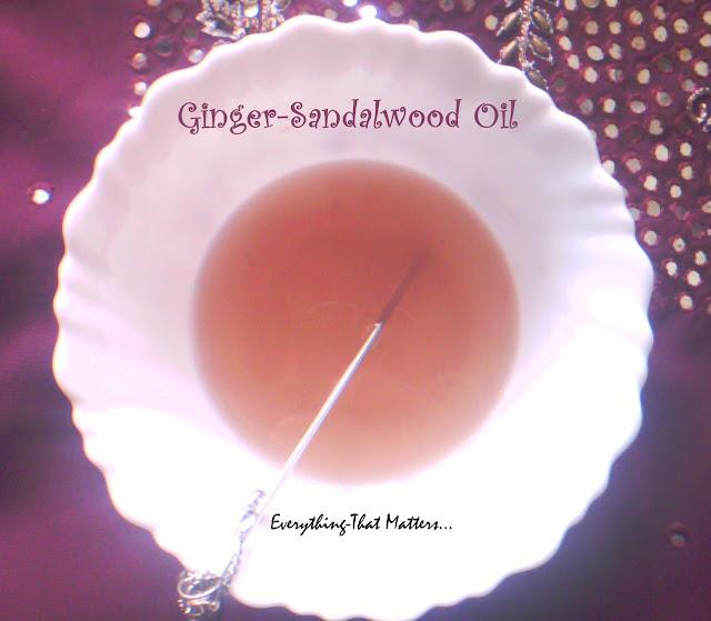 how to make ginger sandalwood oil