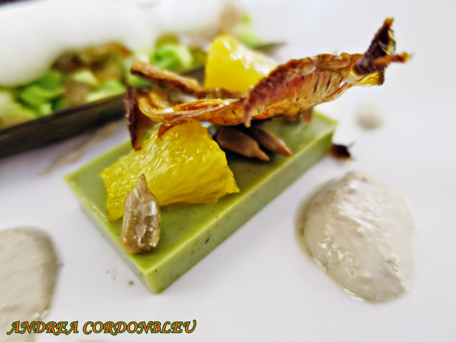 Cordonbleu Vegetariano Royal De Alcachofas Con Mandarinas Y