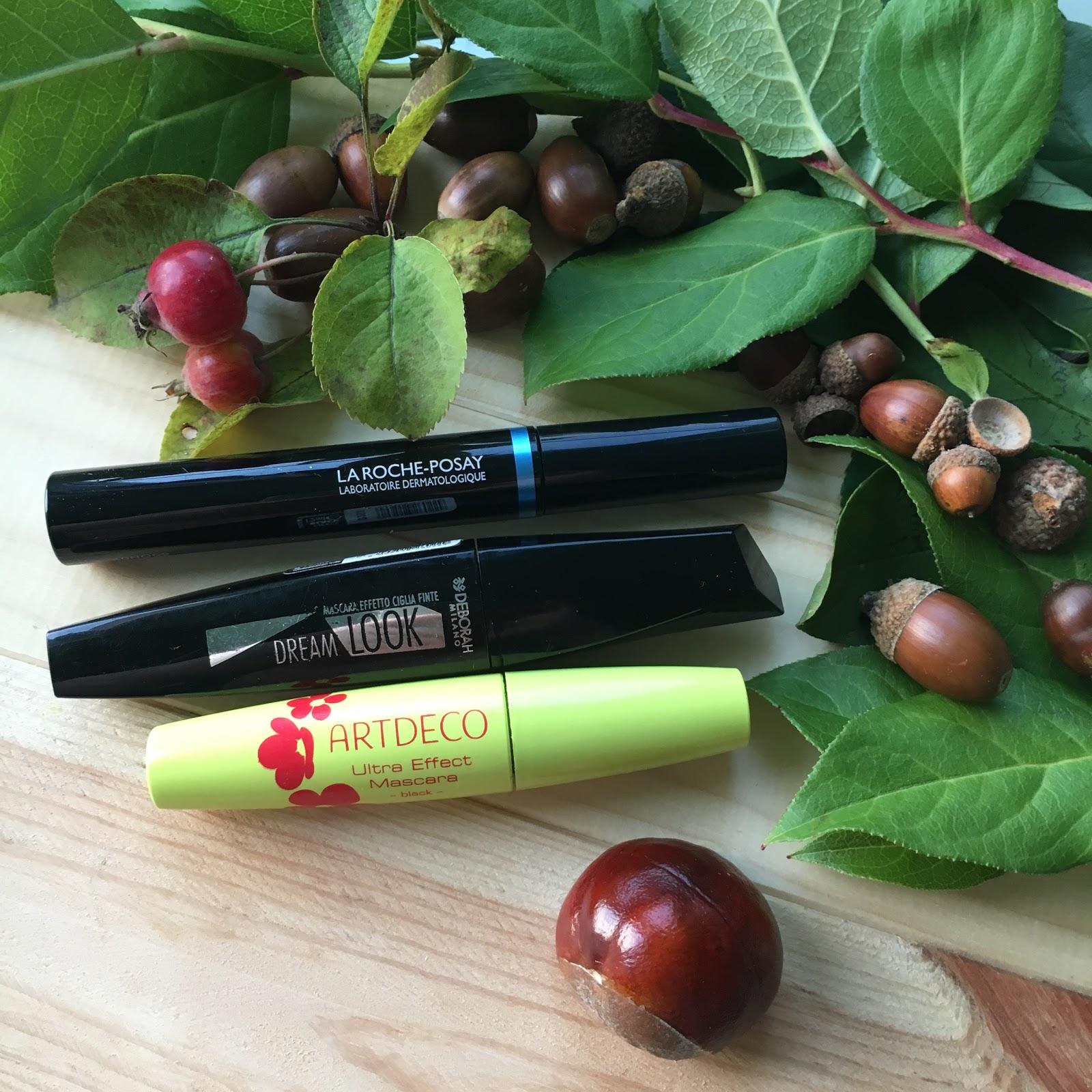 3 produkty to seria mini recenzji, dziś tusz do rzęs z Artdeco, Deborah Milano oraz La Roche-Posay.
