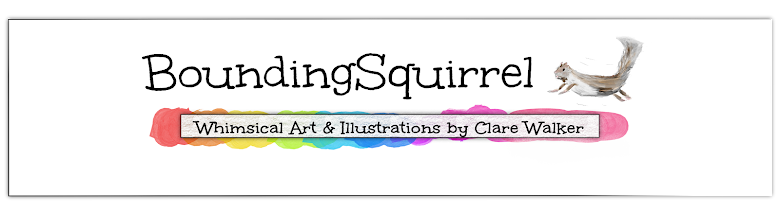 BoundingSquirrel-Whimsical Art, Illustrations and Cartoons