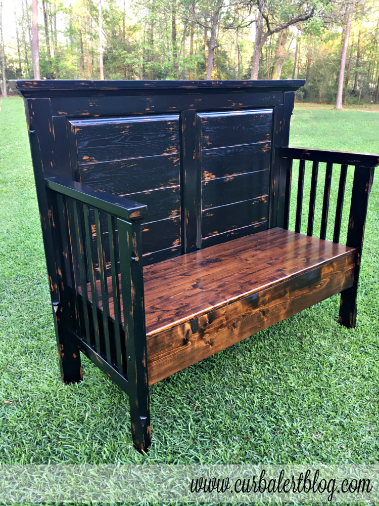 Baby Bed Turned Outdoor Patio Bench