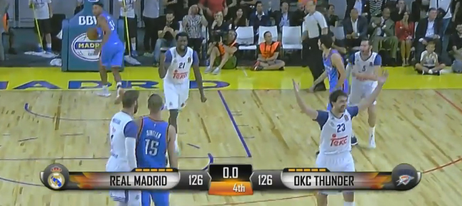 Real Madrid & OKC Thunder Trade Crazy Baskets In OT Thriller (VIDEO)