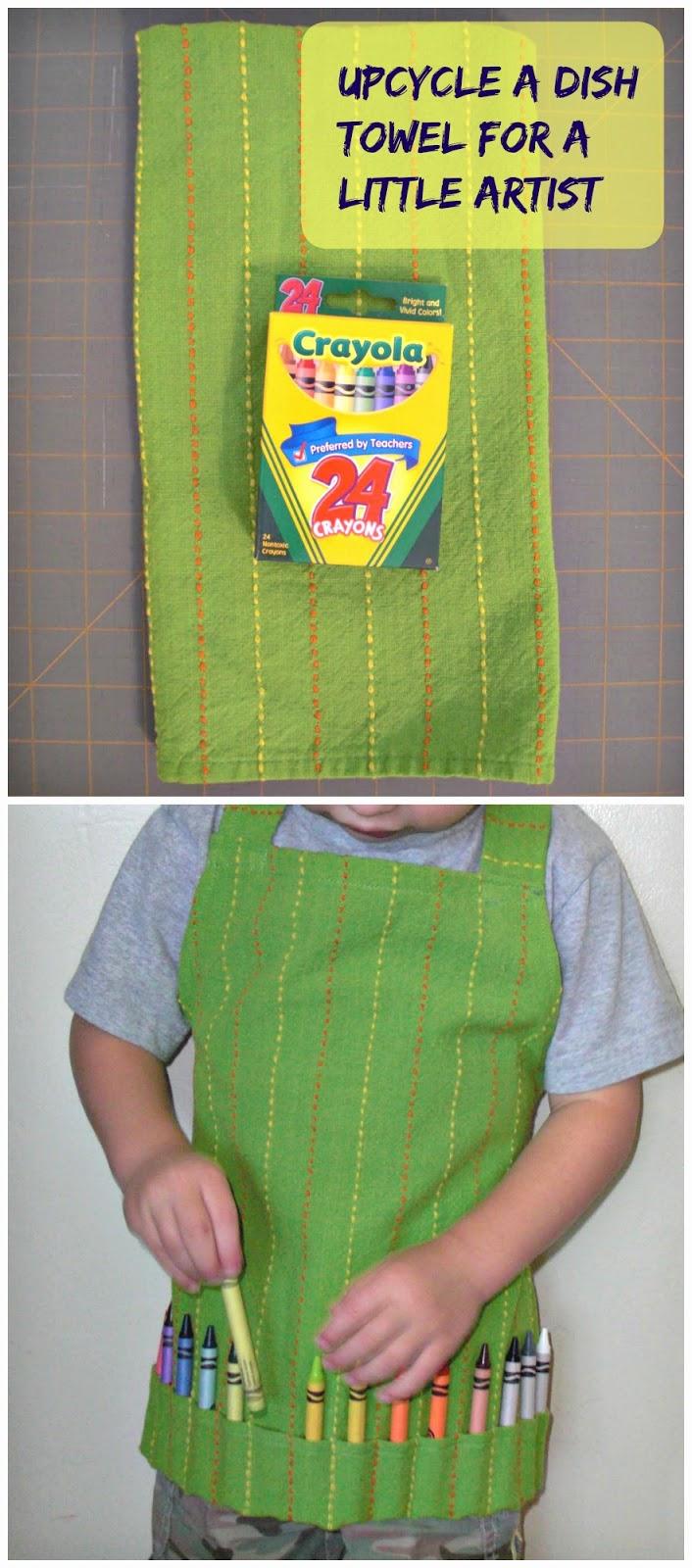 dish towel artist apron
