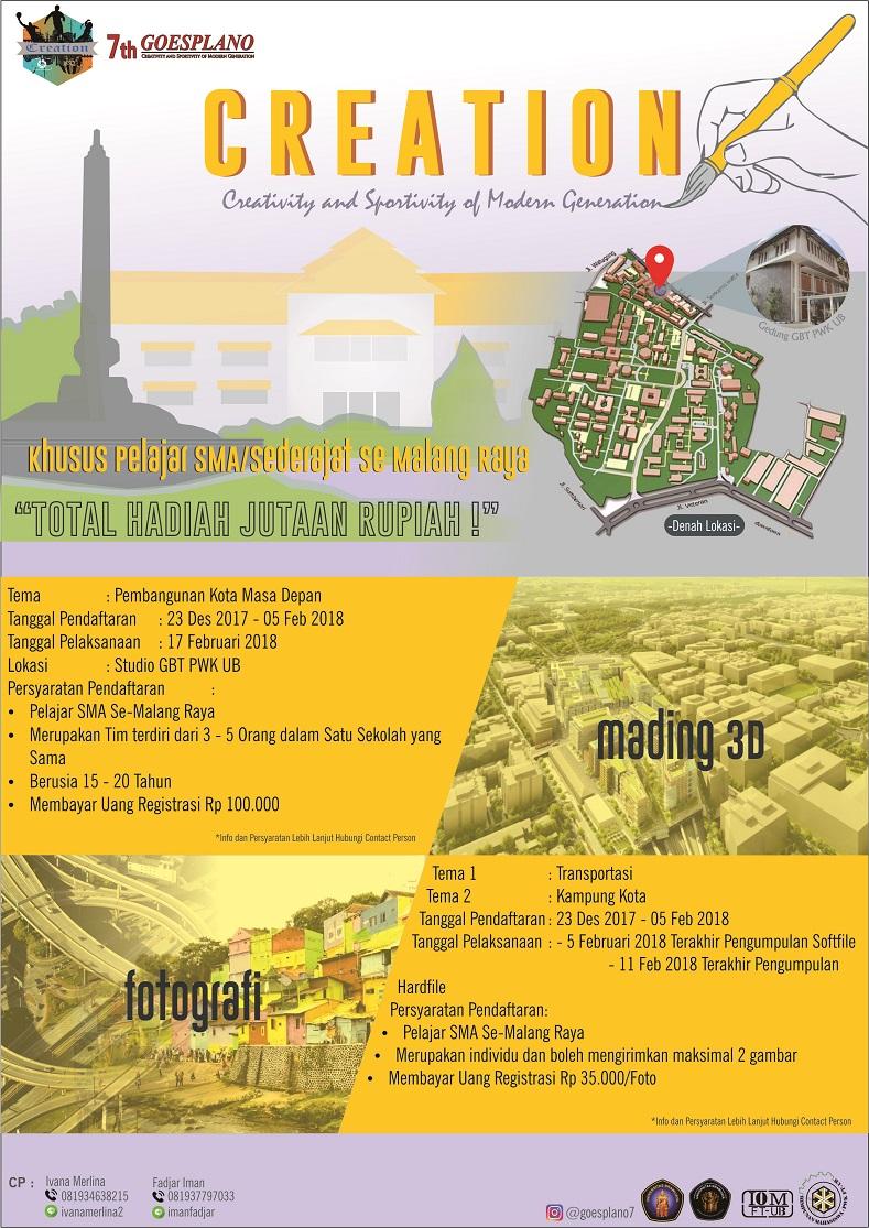 Lomba Mading 3D & Fotografi Goes Plano 7: Creation Peserta SMA