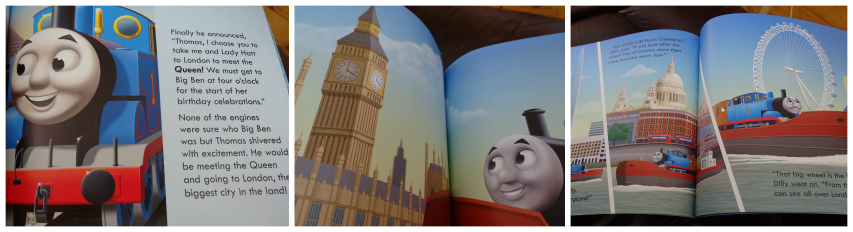 Travelling the Thames in A Visit to London for Thomas The Tank Engine