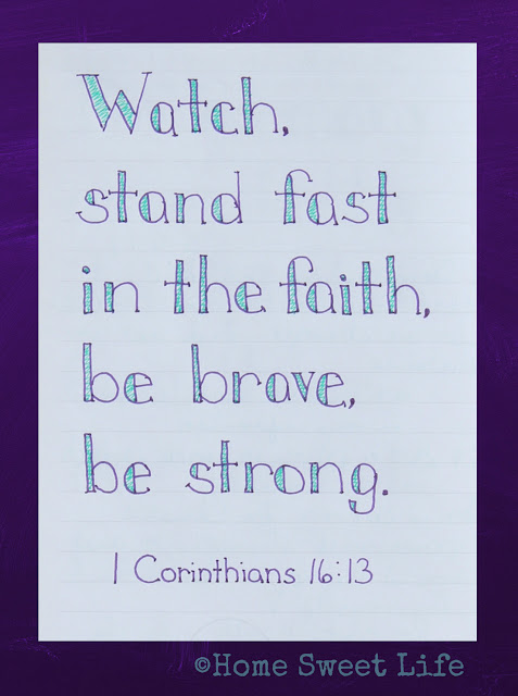 Scripture Writing, 1 Corinthians 16:13
