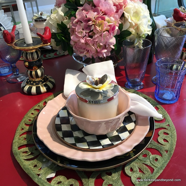 tableware display at Neiman Marcus in San Francisco