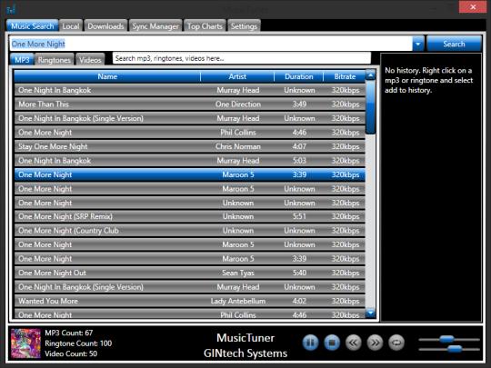 MusicTuner (MP3 arama ve İndirme programı)