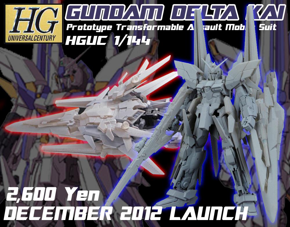 HGUC 1/144 Gundam Delta Kai Official Images