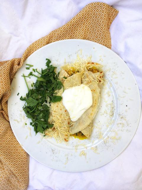 Naleśniki z warzywami curry