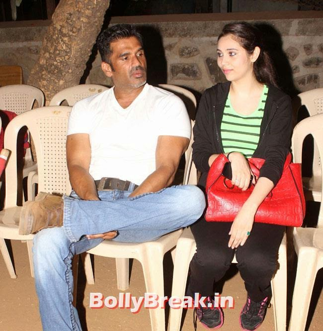 Sunil Shetty and Sasha Agha, Sasha Agha, Alka Verma at Movie 'Unforgettable' First Look Launch