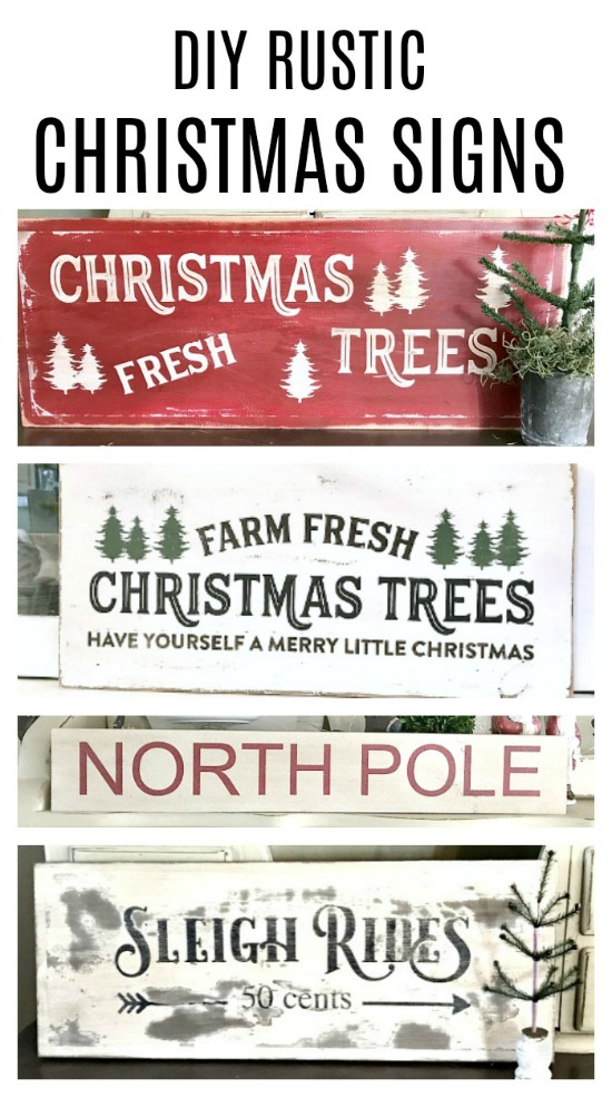 Pinterest pin grouping of Christmas signs