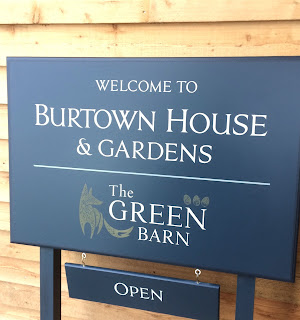 Welcome sign at Burtown House