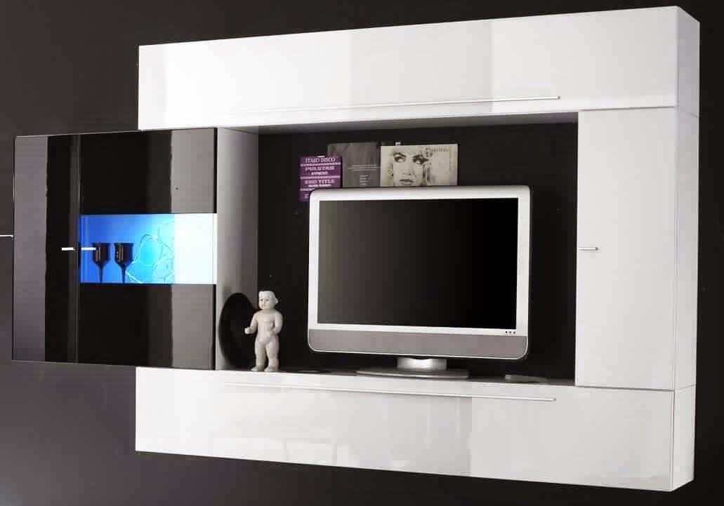meuble tv noir et blanc meuble tv. Black Bedroom Furniture Sets. Home Design Ideas